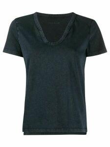 Zadig & Voltaire Atal Bis Henley logo T-shirt - Blue