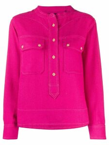 Isabel Marant collarless shirt - PINK