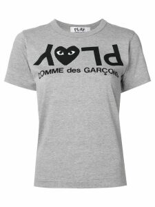 Comme Des Garçons Play upside-down logo T-shirt - Grey