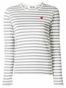 Comme Des Garçons Play logo-print crew neck T-shirt - Grey