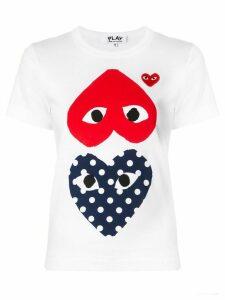 Comme Des Garçons Play heart-print crew neck T-shirt - White