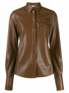 Peter Do leather look shirt - Brown