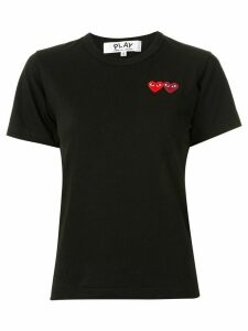 Comme Des Garçons Play logo embroidered crew neck T-shirt - Black