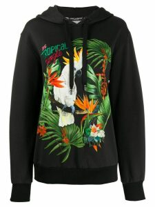 Dolce & Gabbana oversized DG Tropical Jungle hoodie - Black