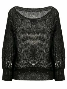 Snobby Sheep sequin-embellished relaxed-fit jumper - Black