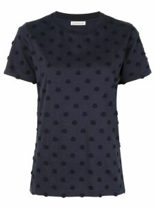 Moncler polka dot-effect patch T-shirt - Blue