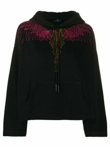 MARCELO BURLON COUNTY OF MILAN Wings relaxed hoodie - Black