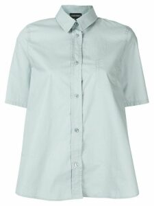 Emporio Armani chest pocket oversized shirt - Green