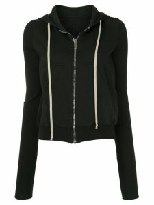 Rick Owens DRKSHDW zipped long sleeve hoodie - Black