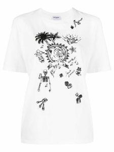 Saint Laurent graphic print T-shirt - White