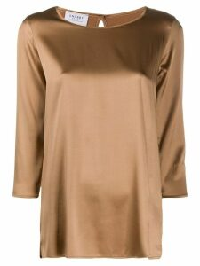 Snobby Sheep 3/4 sleeve satin blouse - NEUTRALS