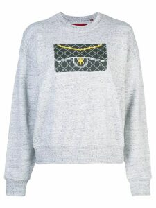 Mostly Heard Rarely Seen 8-Bit Black Clutch sweatshirt - Grey