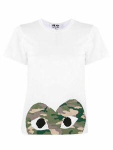 Comme Des Garçons Play logo-print crew neck T-shirt - White