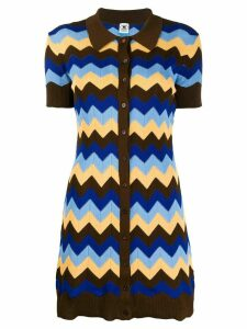 M Missoni chevron-knit shirt - Brown