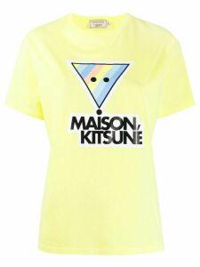 Maison Kitsuné logo print T-shirt - Yellow
