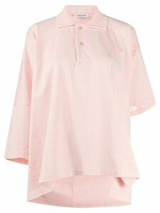 LANVIN Mother and Child asymmetric polo shirt - PINK