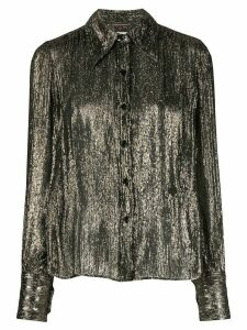 Saint Laurent metallic long-sleeve shirt - GOLD