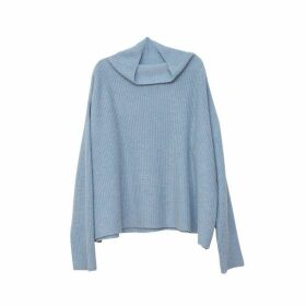 Arela Drew Cashmere Sweater In Light Blue