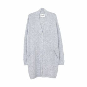 Arela Frances Cashmere Cardigan In Light Grey