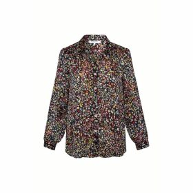Gerard Darel Loose-fitting Floral Print Shirt