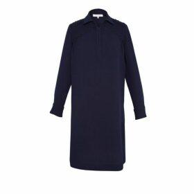 Gerard Darel Crepe Daena Shirt Dress With Embroidery