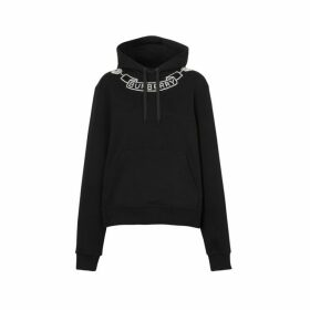 Burberry Embellished Cotton Oversized Hoodie