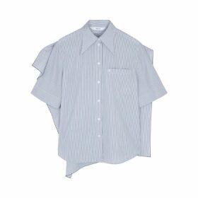 PushBUTTON Striped Cotton Shirt