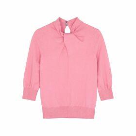 Erdem Rumer Pink Cashmere-blend Jumper