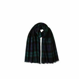 Johnstons Of Elgin Tartan Tissue Cashmere Stole