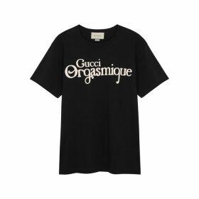 Gucci Gucci Orgasmique Printed Cotton T-shirt