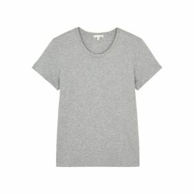 Skin Ophira Grey Cotton T-shirt