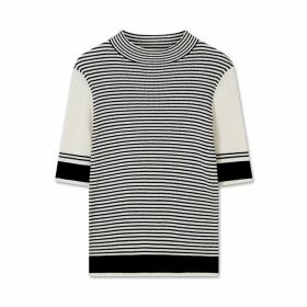 Jigsaw Striped Turtle Neck Jumper