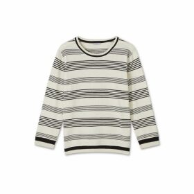 Jigsaw Striped Cotton Slub Jumper