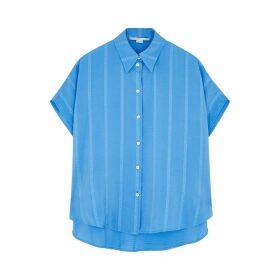 Stella McCartney Susan Blue Silk-blend Shirt