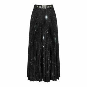 Christopher Kane Black Printed Maxi Skirt