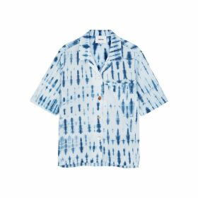 Nanushka Taio Blue Tie-dyed Cotton Shirt