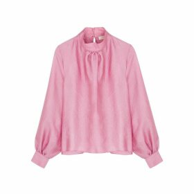 Stine Goya Eddy Metallic Pink Top