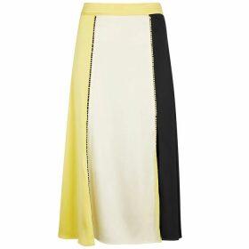 Stine Goya Jada Panelled Satin Skirt