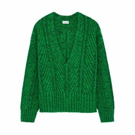 BY MALENE BIRGER Melaney Green Cotton-blend Jumper