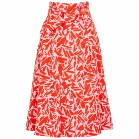 Veronica Beard Avi Printed Cotton-blend Midi Skirt