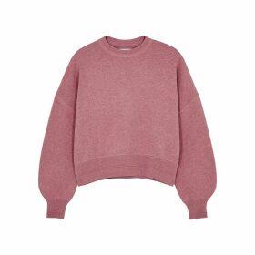 Samsøe & Samsøe Clea Rose Knitted Cotton-blend Sweatshirt