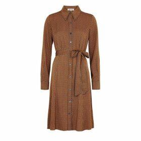 Diane Von Furstenberg Dory Printed Stretch-silk Shirt Dress