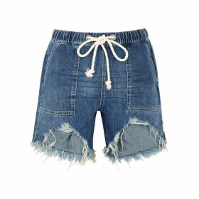 Oneteaspoon Rodeo Distressed Denim Shorts