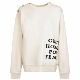 Gucci Logo Button Sweatshirt