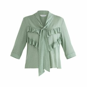 PAISIE - Bond Polka Dot Blouse In Mint Green
