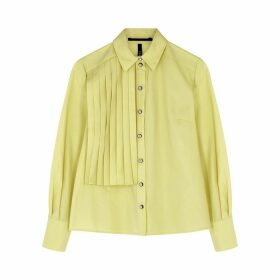 Palones Yellow Pleated Poplin Shirt