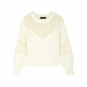 Palones Cream Textured-knit Jumper