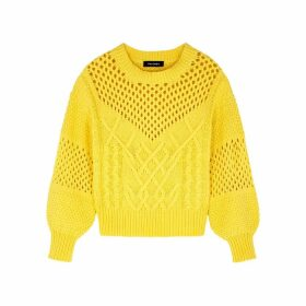 Palones Yellow Textured-knit Jumper