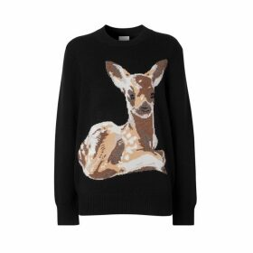 Burberry Deer Intarsia Wool Sweater