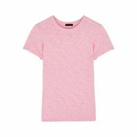 ATM Anthony Thomas Melillo Schoolboy Pink Slubbed Cotton T-shirt